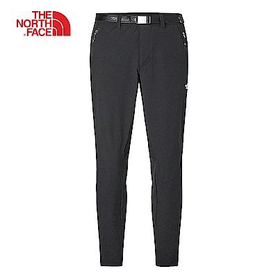The North Face北面男款黑色防潑水針織長褲 3RKVJK3