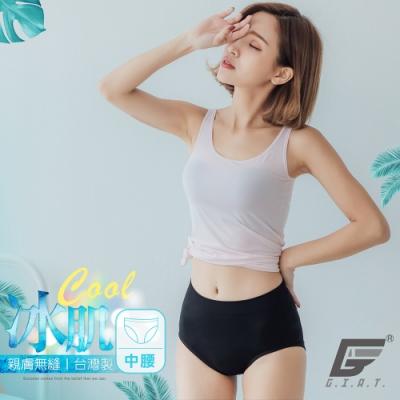 GIAT台灣製涼感無縫美臀褲(中腰款)-黑色