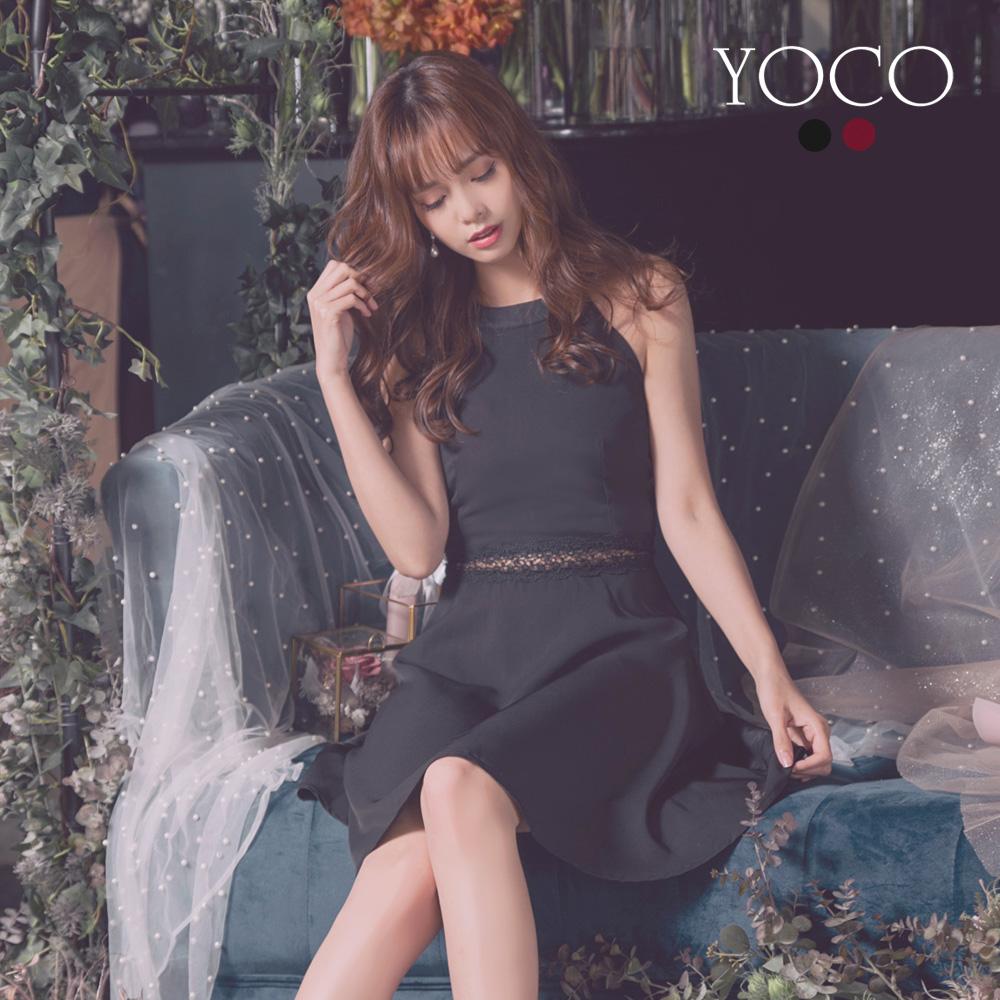東京著衣-YOCO 性感首選削肩鏤空造型洋裝-S.M.L(共兩色)