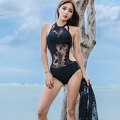 AH dream夢想女孩 鋼圈 兩件式 蕾絲罩衫連身泳裝CR212