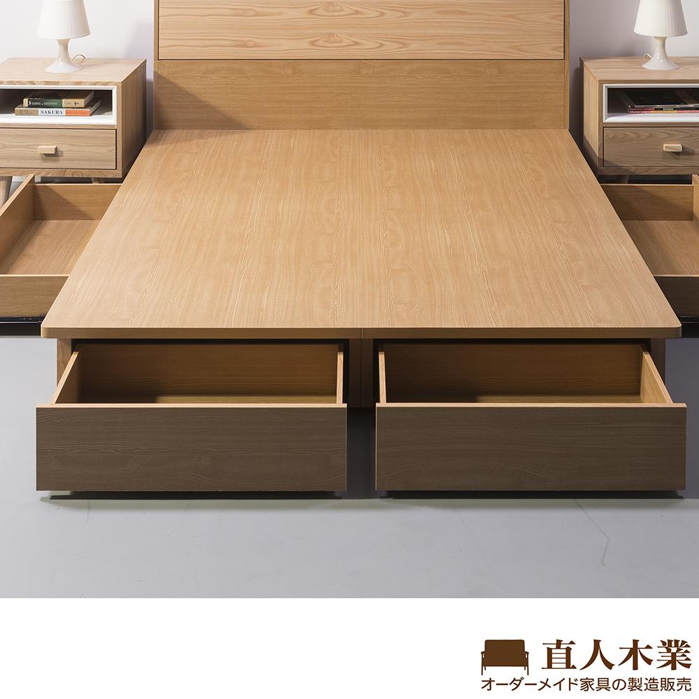 日本直人木業-ROSE玫瑰白5尺雙人四抽木芯板床底(不包含床頭) @ Y!購物