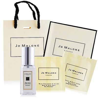 Jo Malone 經典洗潤香氛禮盒E組[鼠尾草香水9ml+香柏木潔膚露7ml+牡丹潤膚霜