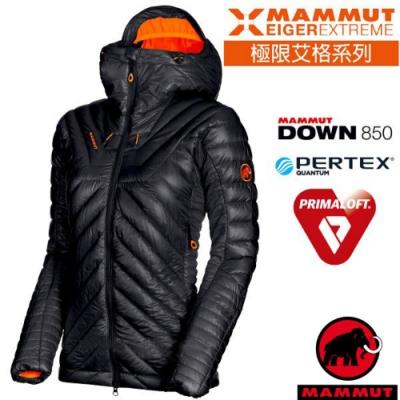 長毛象 女新款 Eigerjoch 高山攀岩極限超機能保暖連帽鵝絨外套_黑