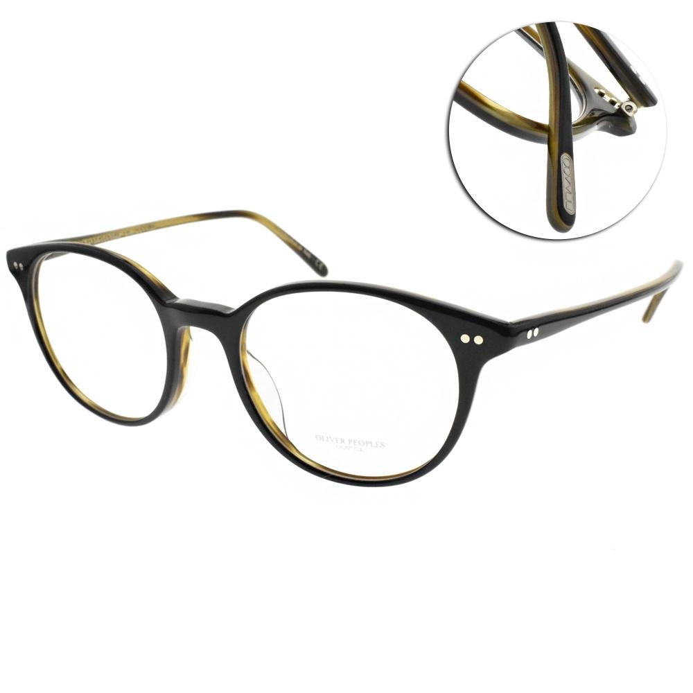 OLIVER PEOPLES光學眼鏡  歐美經典圓框款/黑#MIKETT 1441