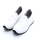 ZUCCA-日系皮革氣墊厚底鞋-白-z6630we