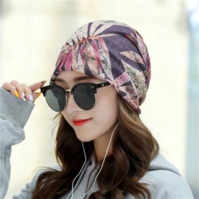 【89 zone】法式優雅透氣薄款套頭防風/頭巾帽(紫)