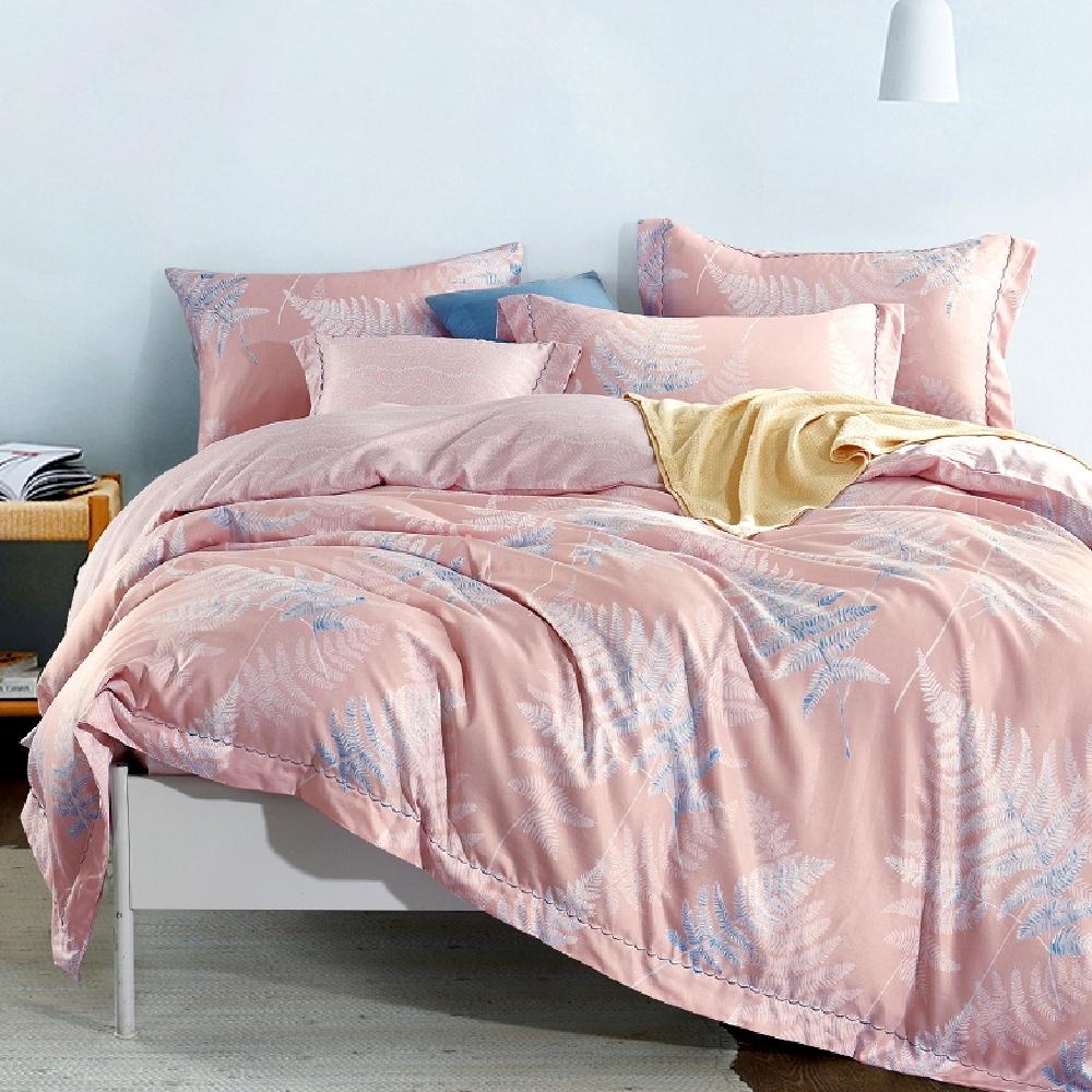 Saint Rose 飛揚-粉 雙人 天絲+3M吸濕排汗專利技術兩用被床包四件組