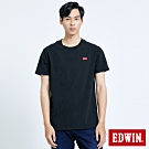 EDWIN 第七代 基本LOGO 短袖T恤-男-黑色