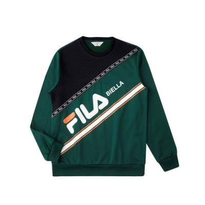 FILA 男吸濕排汗圓領T恤-深綠 1TEU-5482-GN