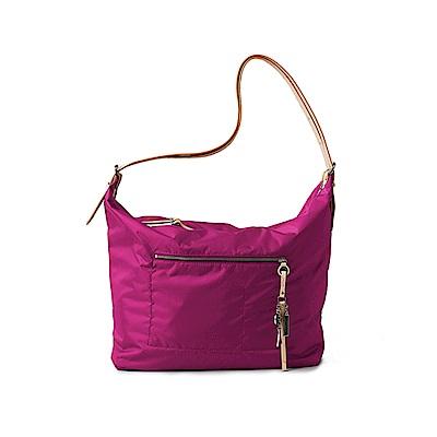 satana - 極簡灑脫大肩包 - 紫菀色