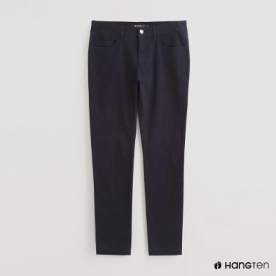 Hang Ten - 男裝 - 簡約素面修身休閒長褲 - 藍