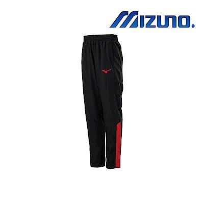 MIZUNO 美津濃 男平織運動長褲 黑x紅 32TD908696