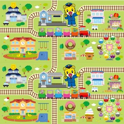 韓國 泰山美龍 包邊遊戲地墊-巧虎列車長 (雙面不同圖案)