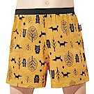 SOLIS 童話森林系列120-150寬鬆印花四角男童褲(鵝黃色)