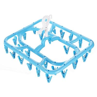 WallyFun 可折式26夾方形曬衣架 (曬衣夾)