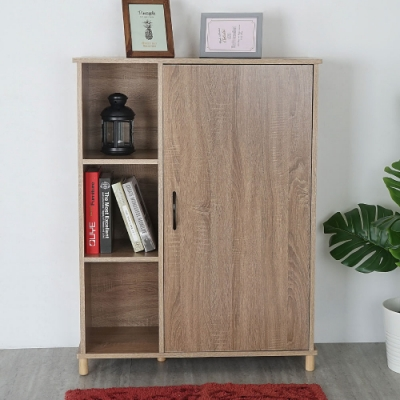 Homelike 摩登半開放置物櫃(二色)-80 x 30 x 104 cm