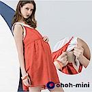 【ohoh-mini  孕哺裝】兩件式雪紡繡花孕哺洋裝