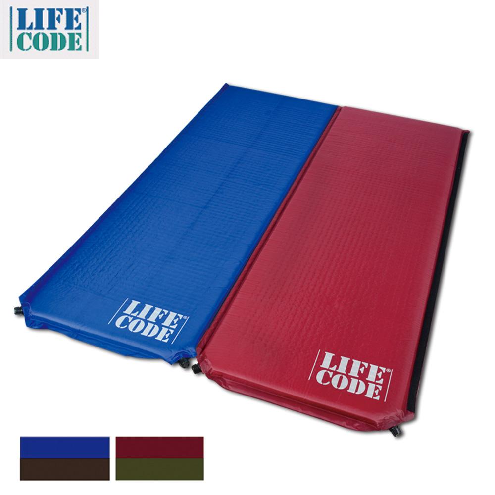 [時時樂限定]LIFECODE《雙面可用可拼接》自動充氣睡墊-厚5cm (2入組)
