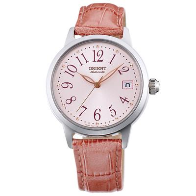 ORIENT東方晶鑽縷空機械錶手錶FAC06004Z-粉/35.5mm