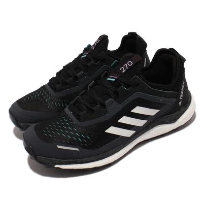 adidas 慢跑鞋 Terrex Agravic Flow 女鞋 海外限定 愛迪達 Boost避震 越野鞋款 黑白 FX7155