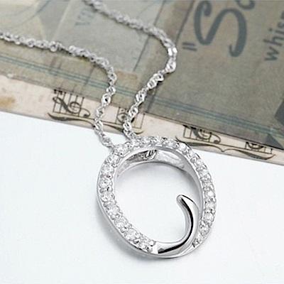 米蘭精品 925純銀項鍊-時尚簡約O英文字母