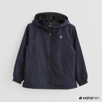 Hang Ten -童裝 -ThermoContro-純色連帽休閒外套-藍
