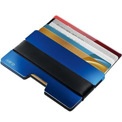 《REFLECTS》鋁製RFID證件夾(藍)