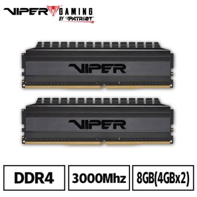 VIPER美商博帝 VB4 DDR4 3000 8GB(2x4G)桌上型記憶體