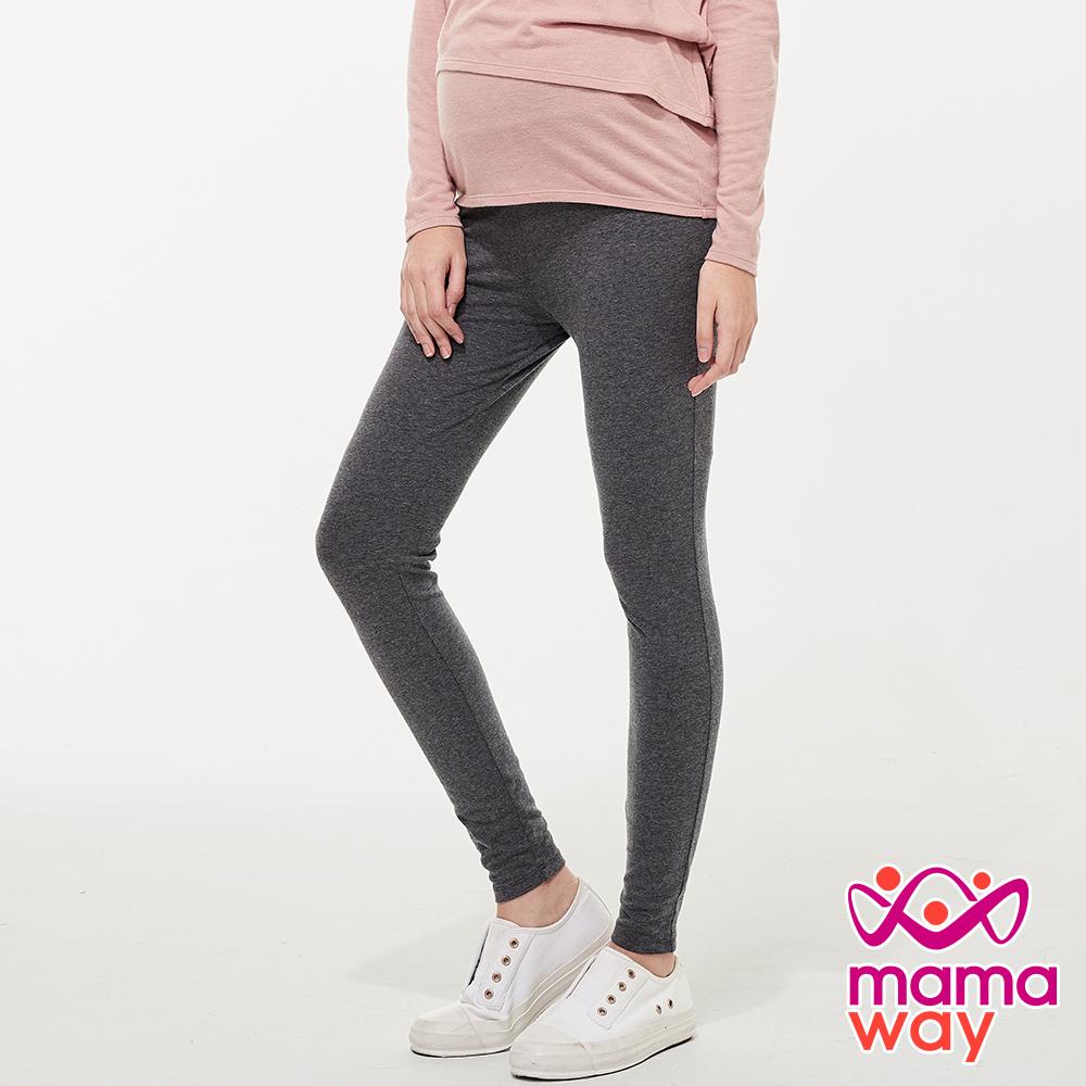 mamaway媽媽餵 碳磨保暖瑜珈孕婦褲(共兩色)