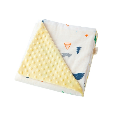 Muslin tree 嬰兒泡泡毯卡通全棉抱被 寶寶安撫抱推車蓋毯
