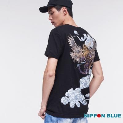 日本藍 BLUE WAY –進口金標-五輪風之卷守鶴短TEE