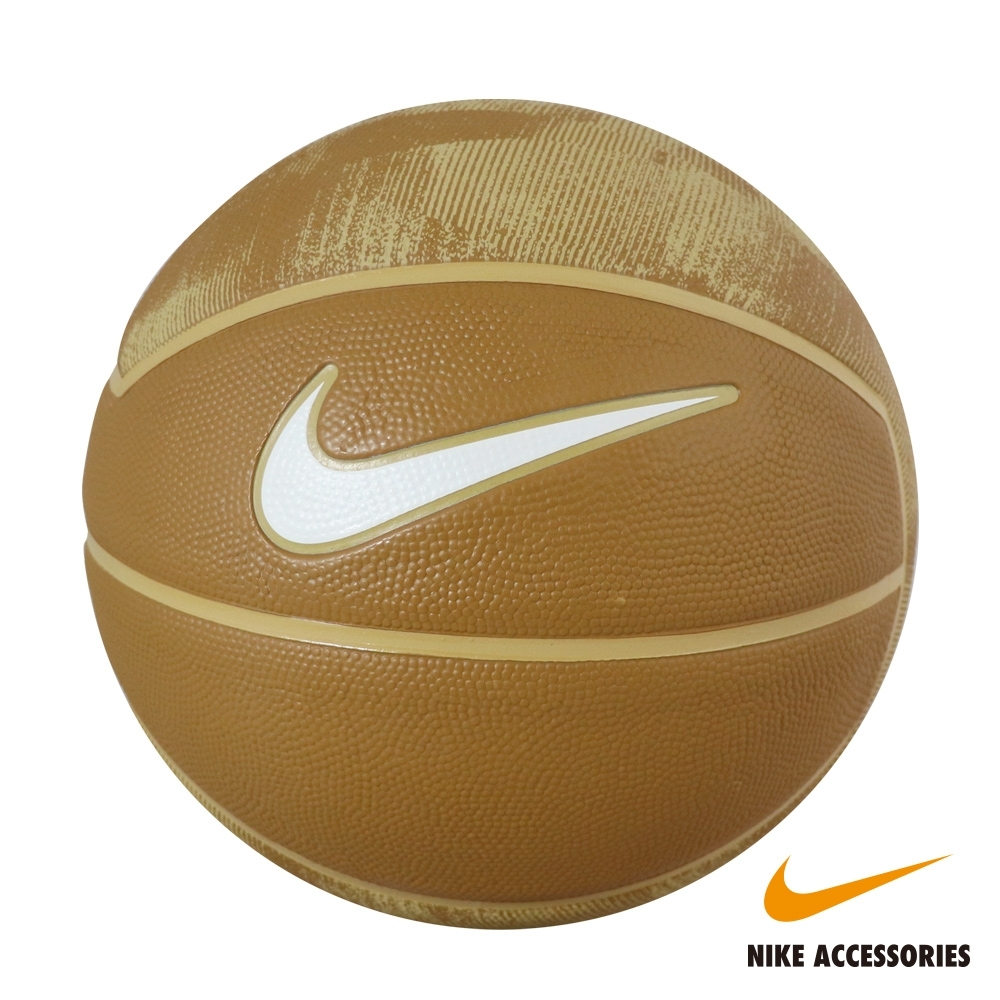 NIKE耐吉 NIKE LEBRON PLAYGROUND 7號籃球(卡其底白勾)