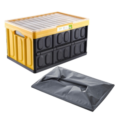 【FJ】折疊乾溼多功能收納箱(車用/露營/釣魚皆適用)