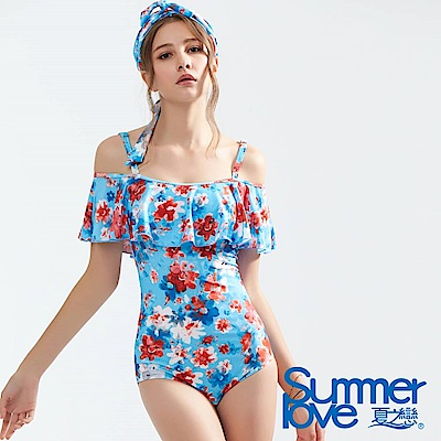 夏之戀SUMMERLOVE 大女連身三角兩件式泳衣