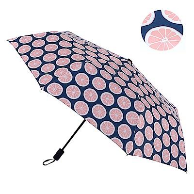 2mm 100%遮光 繽紛檸檬黑膠降溫手開傘 (粉色)