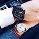 Relax Time 時尚達人日曆顯示情侶對錶-42+38mm product thumbnail 1