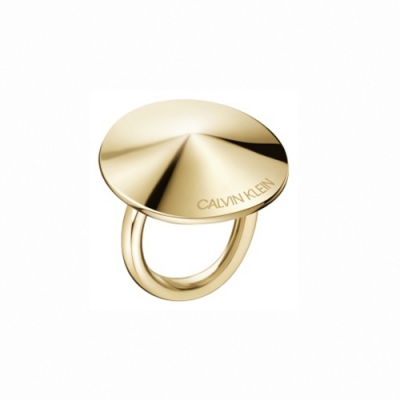 CALVIN KLEIN Spinner 系列圓形香檳金戒指-6
