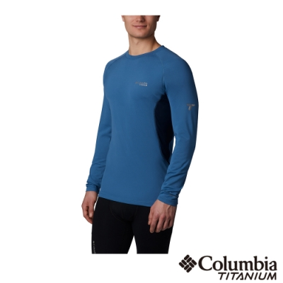 Columbia 哥倫比亞 男款- 鈦Omni HEAT3D鋁點保暖快排上衣-藍