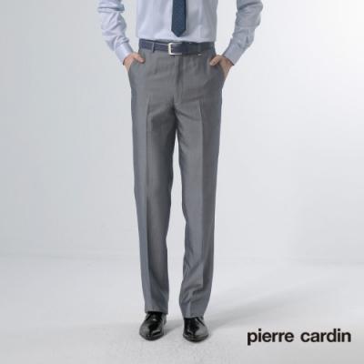 Pierre Cardin皮爾卡登 男裝 緹花平口西裝褲-黑灰色(5187866-95)