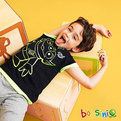 bossini男童-玩具總動員印花T恤-三眼怪02黑