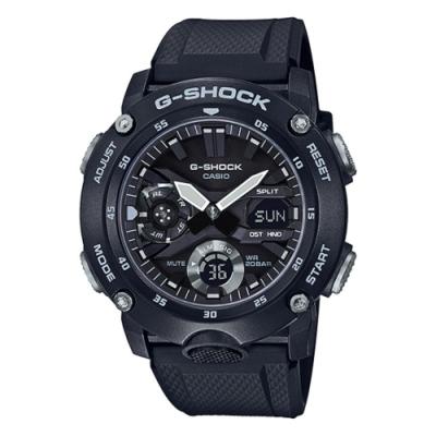 CASIO卡西歐 純黑極簡風格G-SHOCK系列(GA-2000S-1A)