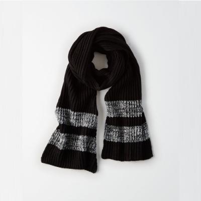 American Eagle AE 美國老鷹 舒適保暖圍巾 - 黑灰色