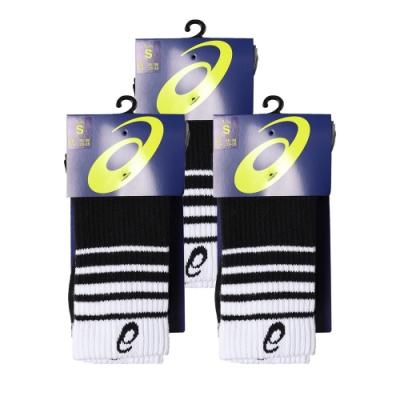 Asics 亞瑟士中筒襪 Crew Socks 3 Pack 白紅 黑白 兩色