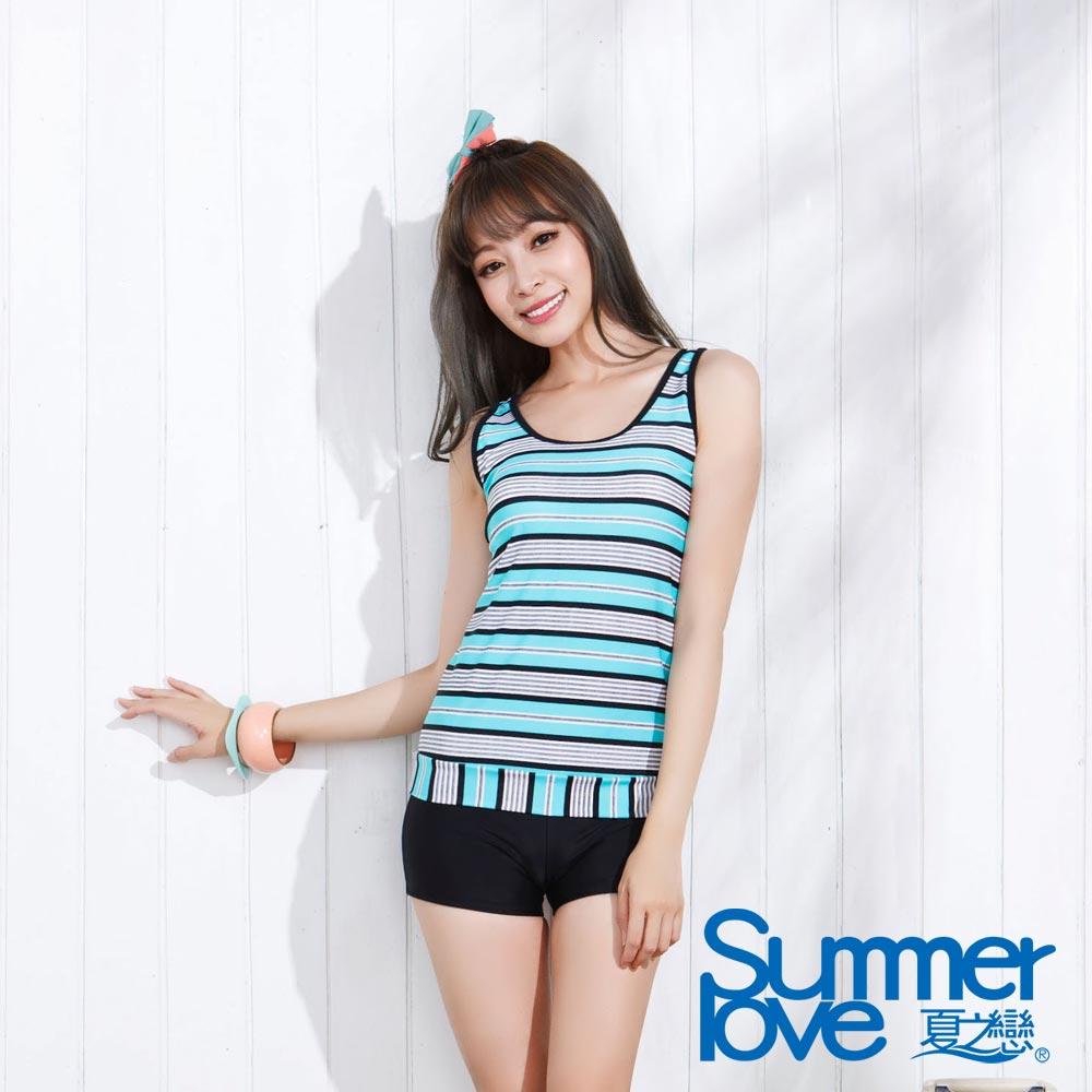 夏之戀SUMMER LOVE 淑女風長版二件式泳衣 大尺碼