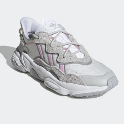 adidas 休閒鞋 老爹鞋 運動 女鞋 灰 粉 EG8729 Ozweego