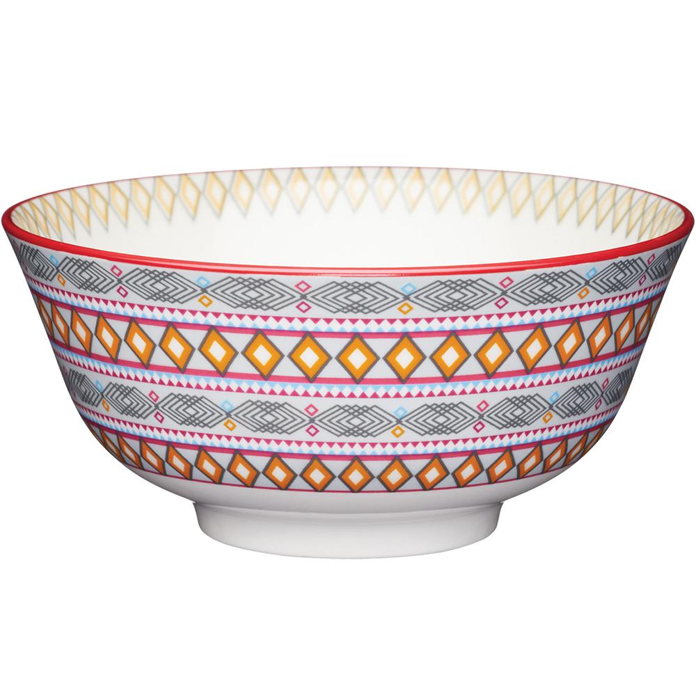 《KitchenCraft》陶製餐碗(菱紋)