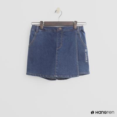 Hang Ten-童裝-英文字樣牛仔短褲-藍
