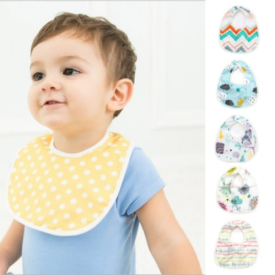 Baby童衣 六層紗全棉嬰幼兒按釦圍兜 60369