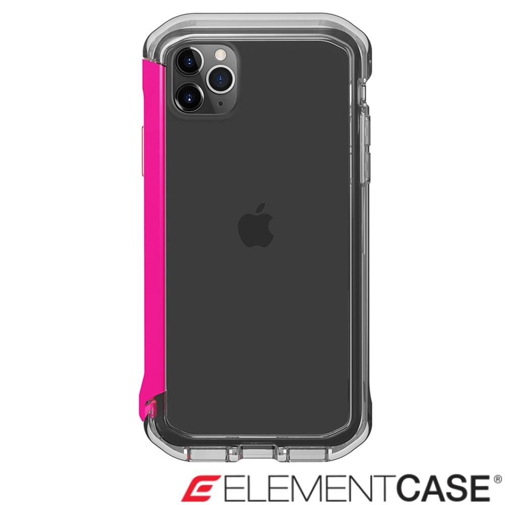 美國Element Case iPhone 11 Pro Max Rail 軍規殼-晶透粉