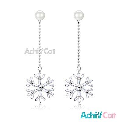 AchiCat 耳環耳針式 白雪飄飄